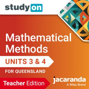StudyON Maths Methods Units 3 & 4 for Queensland Teacher