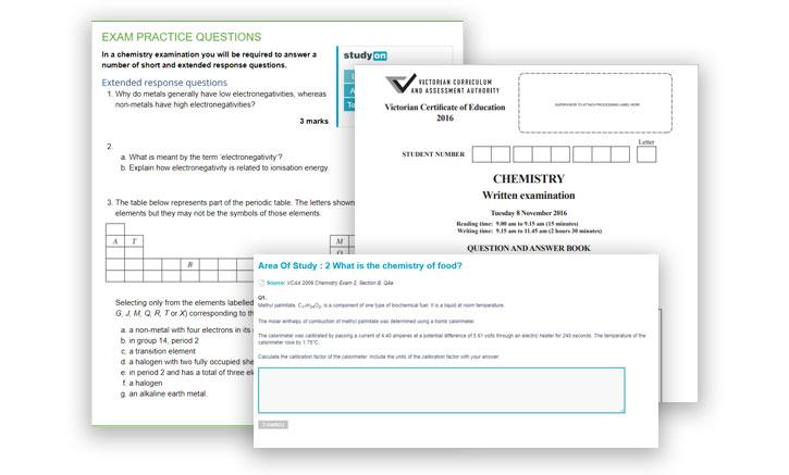 VCE Chemistry assessment prep pillar