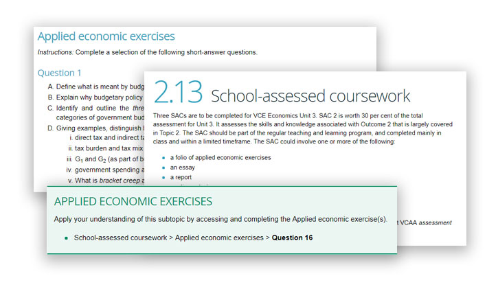 VCE Economics Assessment Prep pillar