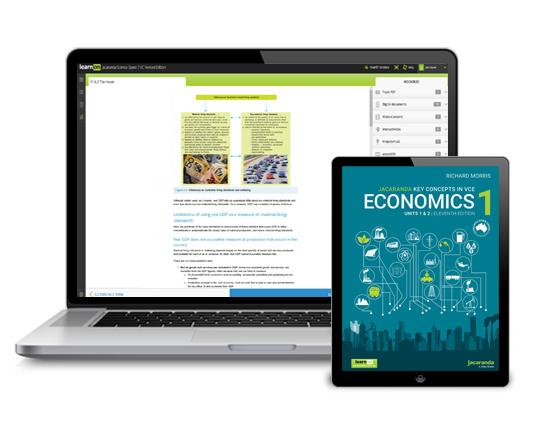 Jacaranda VCE Economics device