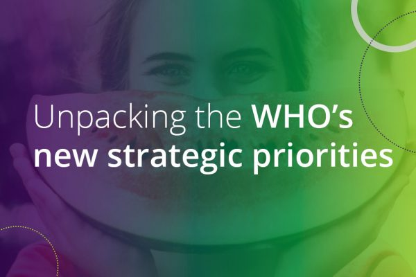 unpacking the who's new strategic priorities