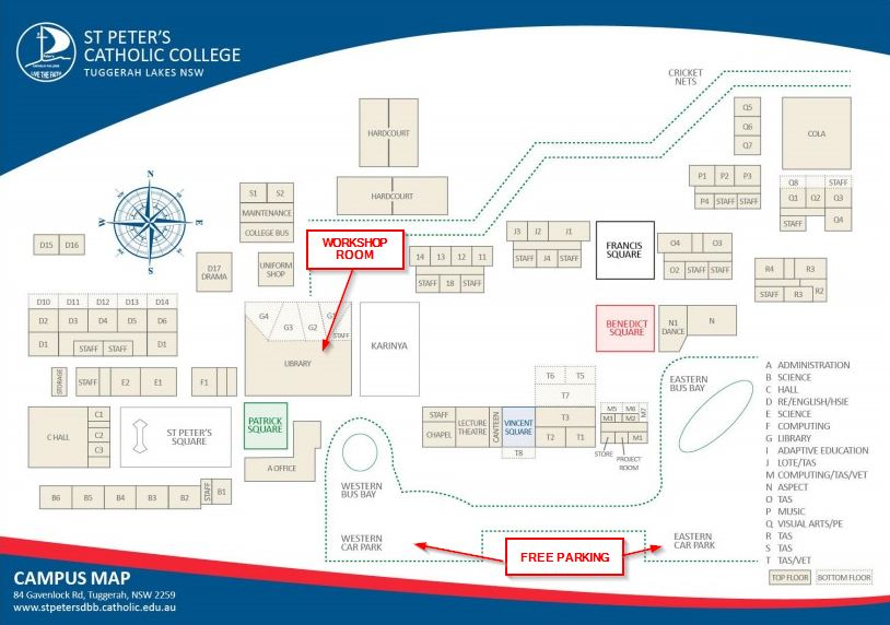 St Peters Catholic College Map