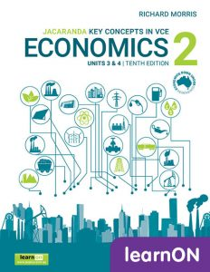 Jacaranda Key Concepts in Economics 2 Units 3 & 4, 10th Edition learnON