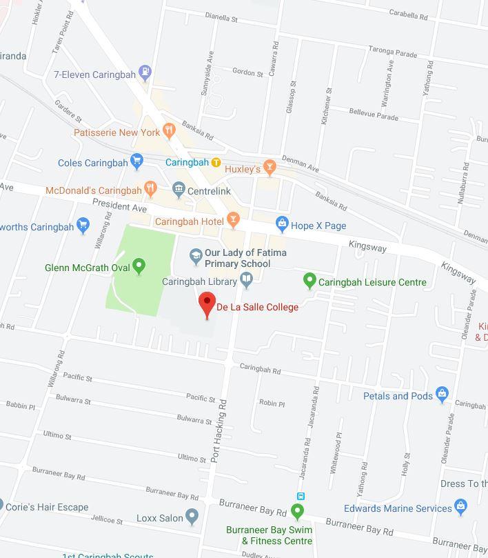 De La Salle Catholic College google map