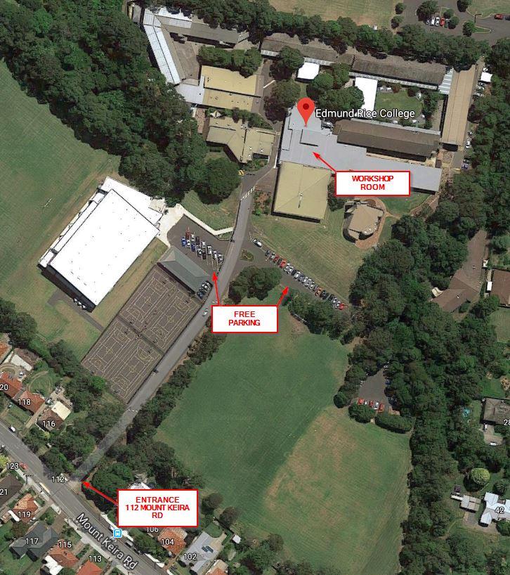 Edmund Rice College map