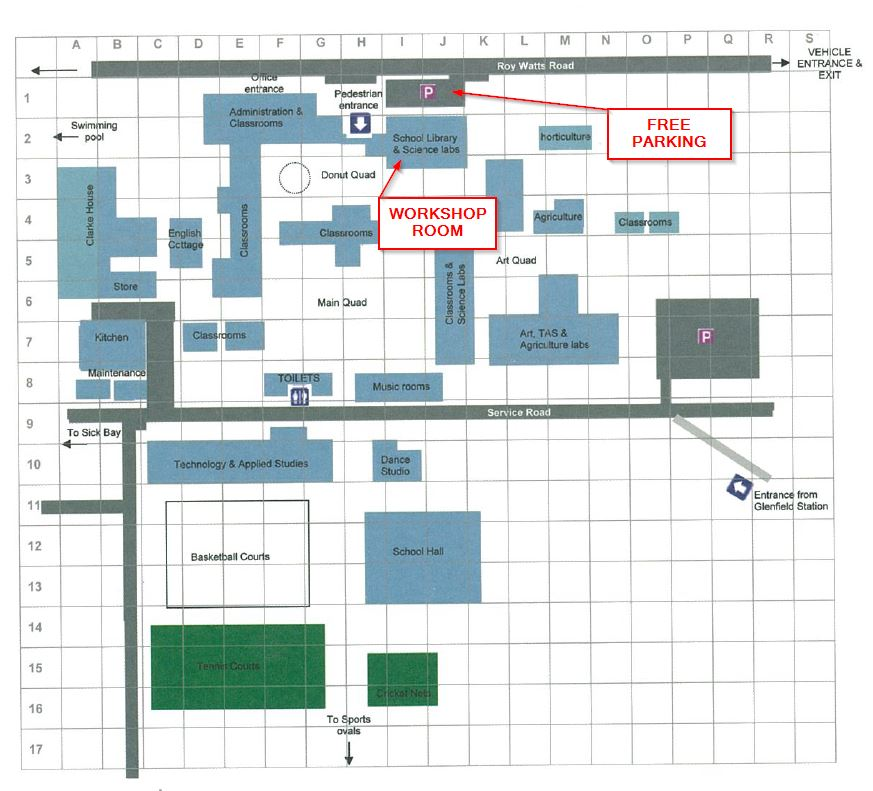Hurlstone Agricultural High School map