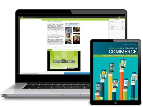 Jacaranda New Concepts in Commerce 4E device