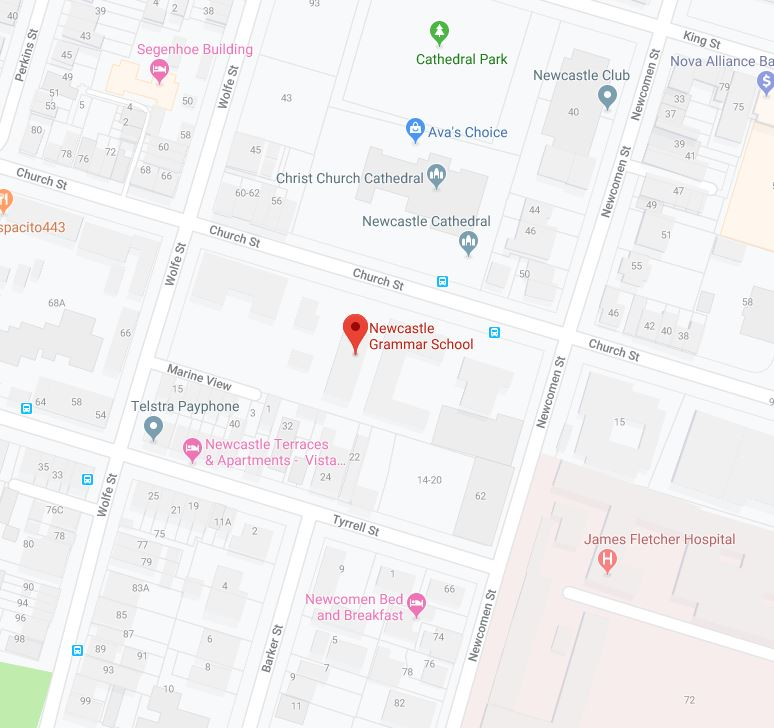 Newcastle Grammar school map
