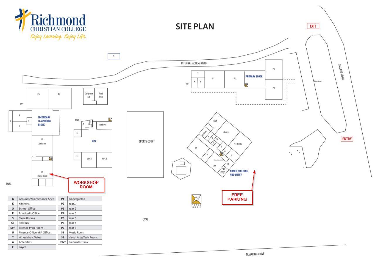 Richmond Christian College school map