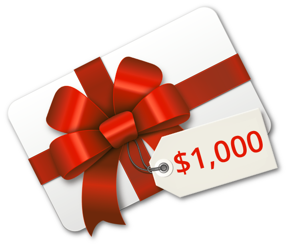 Gift card $1,000