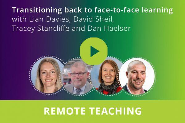 Face-to-face learning webinar thumbnail