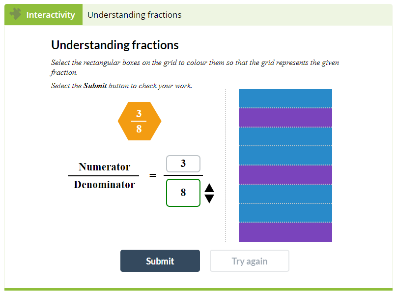 Maths Example - Understanding fractions