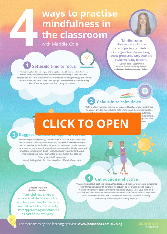 mindfulness poster open
