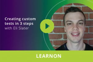 Creating custom tests in 3 easy steps webinar thumbnail