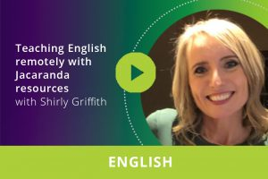 Teaching English remotely with Jacaranda resources webinar thumbnail