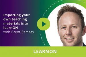 Importing your own teaching materials into learnON webinar thumbnail