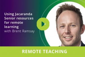Using Jacaranda Senior resources for remote learning webinar thumbnail