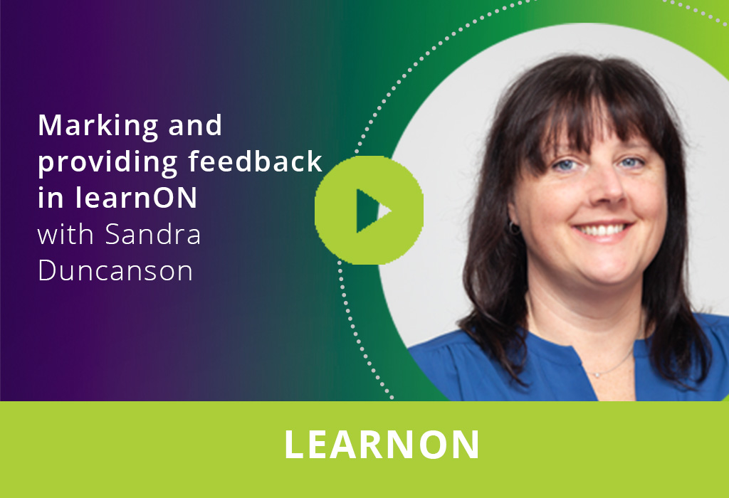 Marking and providing feedback in learnON webinar thumbnail