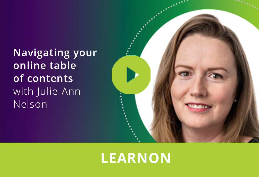 Navigating your online table of contents webinar thumbnail