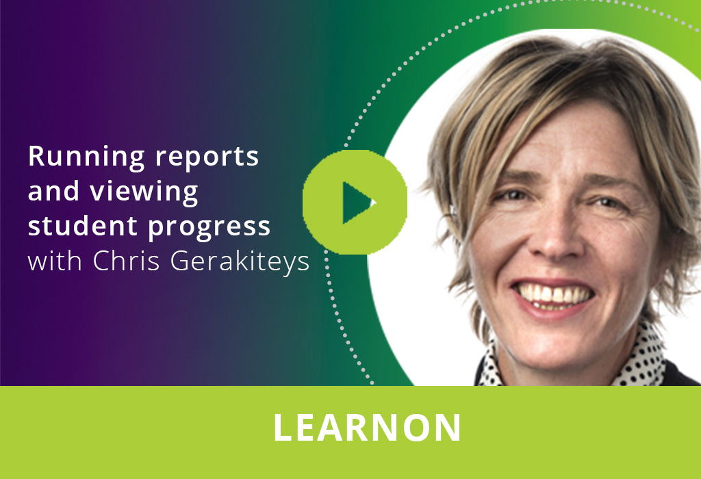 Running reports and viewing student progress webinar thumbnail
