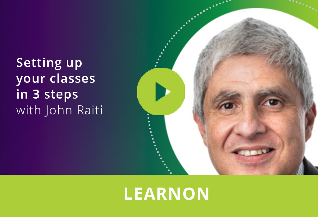 Setting up your classes in 3 steps webinar thumbnail