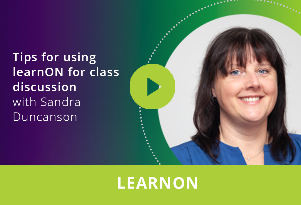 Tips for using learnON for class discussion webinar thumbnail