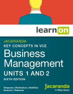 Key Concepts in VCE Business Management U1&2 6e learnON cover