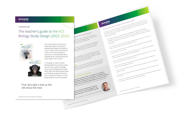 VCE Biology Study Design Guide-Brochure