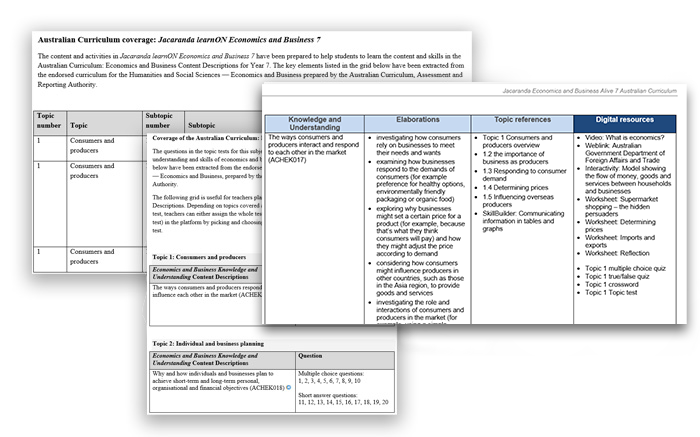 Jacaranda Economic and Business AC aligned-to-curriculum-ac screenshots