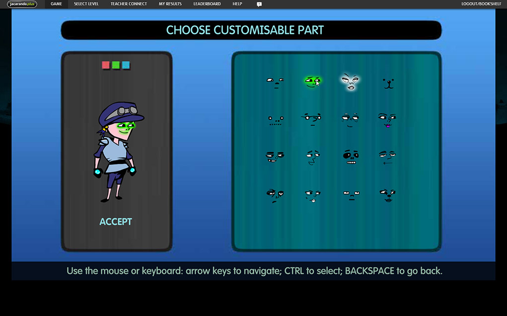 Customise characters